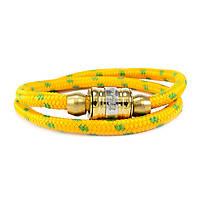 Текстильный браслет с закручивающейся застежкой желтый Арт. BS021SL, фото 3