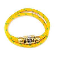 Текстильный браслет с закручивающейся застежкой желтый Арт. BS021SL, фото 4