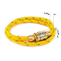 Текстильный браслет с закручивающейся застежкой желтый Арт. BS021SL, фото 5