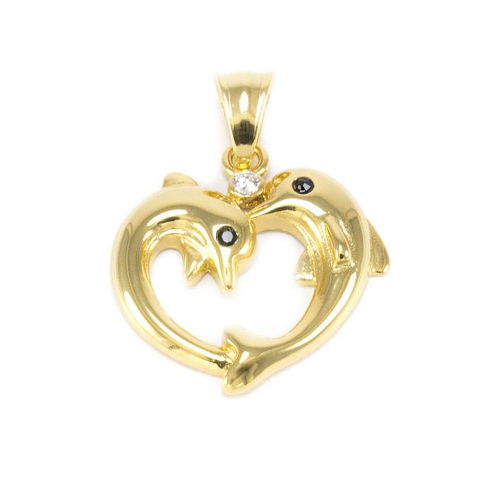 Кулон Рыбки в форме сердечка Арт. PD015SL