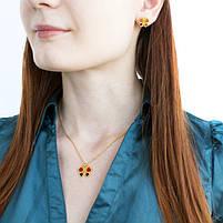 Комплект сережки-гвоздики и кулон Бабочки Арт. ST017SL, фото 2