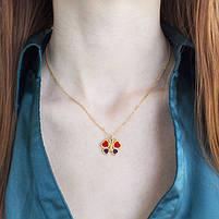 Комплект сережки-гвоздики и кулон Бабочки Арт. ST017SL, фото 5