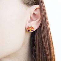 Комплект сережки-гвоздики и кулон Бабочки Арт. ST017SL, фото 6