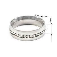 Кольцо с фианитами по кругу цвета серебра Арт. RN001SL (20), фото 5