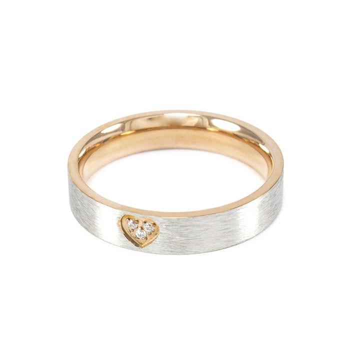 Кольцо с сердечком и фианитом Арт. RN040SL (19)