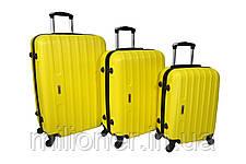 Чемодан Siker Line (средний) желтый, фото 3