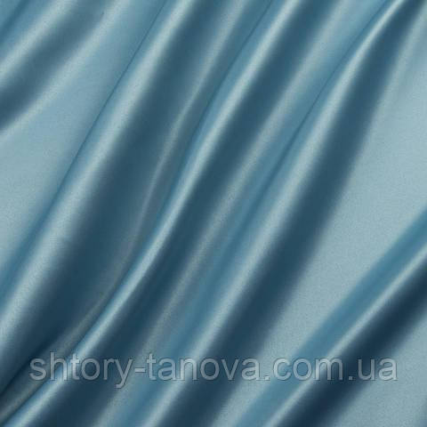 Атлас декоративний, однотонний морська хвиля