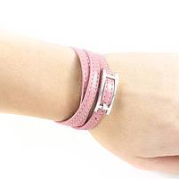 Кожаный браслет Ремешок розовый Арт. BS014LR, фото 2