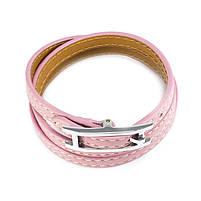 Кожаный браслет Ремешок розовый Арт. BS014LR, фото 3