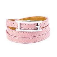 Кожаный браслет Ремешок розовый Арт. BS014LR, фото 4