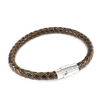 Кожаный браслет коричневый Арт. BS010LR