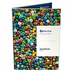 1001 Seed Beads Rocailles Preciosa. Карта цветов (палитра) бисера Preciosa
