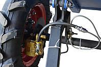 Прицеп (тележка) к мотоблоку Мотор Сич, МТЗ, WEIMA, Кентавр, Форте (самосвальная с дисковыми тормозами), фото 6