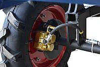 Прицеп (тележка) к мотоблоку Мотор Сич, МТЗ, WEIMA, Кентавр, Форте (самосвальная с дисковыми тормозами), фото 7