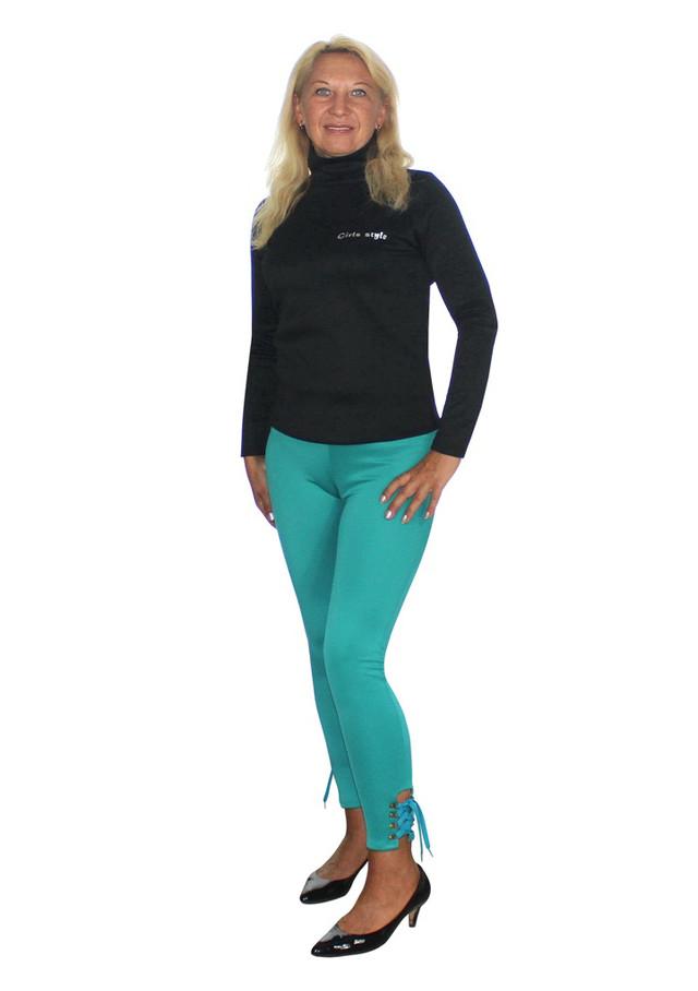 Обтягивающие брюки цвета морской волны
