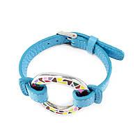 Кожаный браслет Часики голубой Арт. BS016LR, фото 3