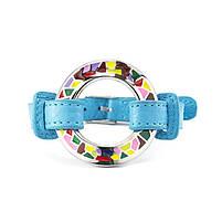 Кожаный браслет Часики голубой Арт. BS016LR, фото 4