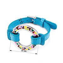 Кожаный браслет Часики голубой Арт. BS016LR, фото 6
