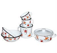Дитячий набір емальованого посуду Epos 163 Веселі собачки