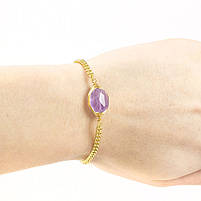 Браслет с фиолетовым камнем Арт. BS035SL, фото 2