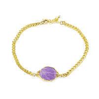 Браслет с фиолетовым камнем Арт. BS035SL, фото 3