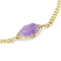 Браслет с фиолетовым камнем Арт. BS035SL, фото 4