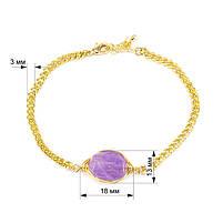 Браслет с фиолетовым камнем Арт. BS035SL, фото 5