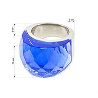 Кольцо крупное с синим камнем Арт. RN057SL (17), фото 5