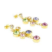 Сережки Гроздь разноцветных фианитов Арт. ER057SL, фото 3
