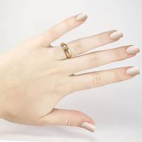 Кольцо вольфрамовое граненое золотистое Арт. RN001WF (17), фото 2