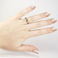 Кольцо вольфрамовое граненое золотистое Арт. RN001WF (18), фото 2