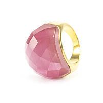 Кольцо крупное с розовым граненым камнем Арт. RN059SL (18), фото 4