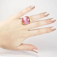 Кольцо крупное с розовым камнем Арт. RN060SL (17), фото 2