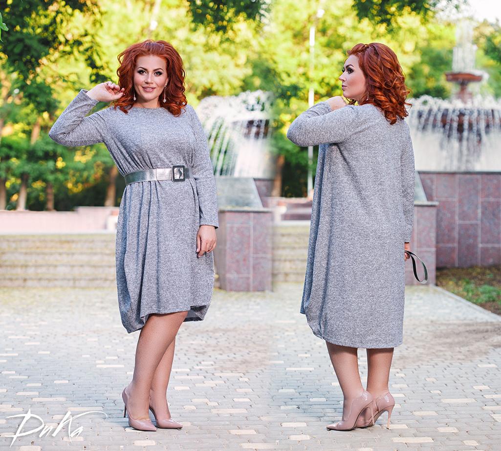 Платье свободного кроя БАТАЛ  04р1547