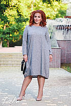 Платье свободного кроя БАТАЛ  04р1547, фото 3