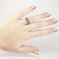 Кольцо с греческим узором золотистое Арт. RN071SL (17), фото 2