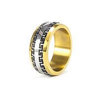 Кольцо с греческим узором золотистое Арт. RN071SL (17), фото 3
