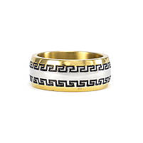 Кольцо с греческим узором золотистое Арт. RN071SL (17), фото 4