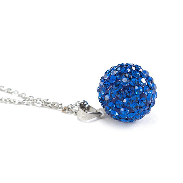 Кулон Кристальный шар синий Арт. PD070SL