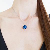 Кулон Кристальный шар синий Арт. PD070SL, фото 2