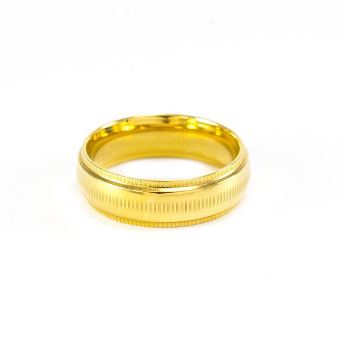 Кольцо с засечками золотистое Арт. RN077SL (18)