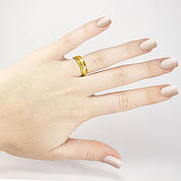 Кольцо с засечками золотистое Арт. RN077SL (18), фото 2