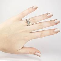 Кольцо Бабочка с фианитом серебристое Арт. RN083SL (16), фото 2