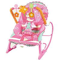 Кресло качалка для детей - от 0 месяцев до 18 кг , вибро, музыка