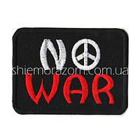 """Нашивка шеврон """"NO WAR"""" клей"""