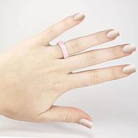 Кольцо керамическое граненое розовое Арт. RN033CR (17), фото 2