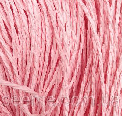 Бумажный шнур, 10 метров, цвет розовый