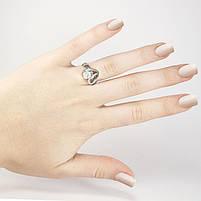 Кольцо серебристое Сердечко с фианитом Арт. RN095SL (18), фото 2