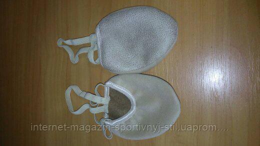 Получешки ( полубалетки) велюр бежевые разм. 16-21,5 см