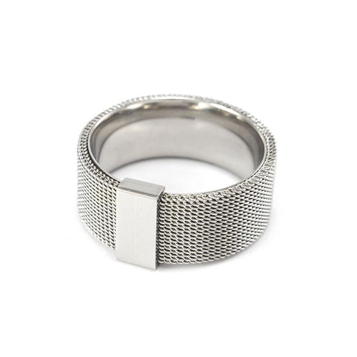 Кольцо из стали в виде кольчуги Арт. RNM001SL (21)